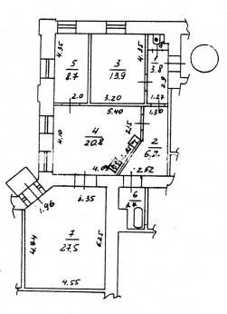 3 комнатная из. квартира Конный рынок - фото 1