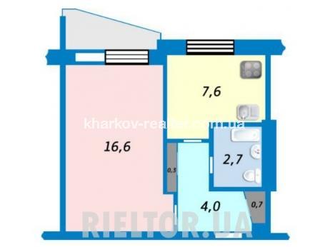1-комнатная квартира, ХТЗ - фото 2