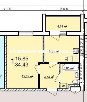 1-комнатная квартира, Хол.Гора - фото 12