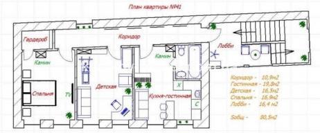 3-комнатная квартира, ЮВ и ЦР - фото 11
