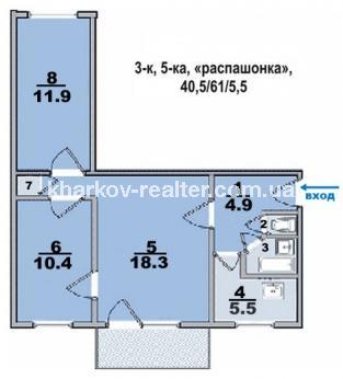 3-комнатная квартира, Нов.Дома - фото 9