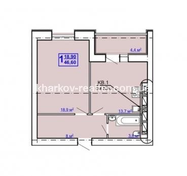1-комнатная квартира, ЮВ и ЦР - Image1