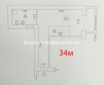 1-комнатная квартира, ЮВ и ЦР - Image10