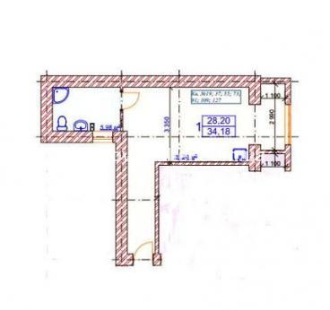 1-комнатная квартира, ЮВ и ЦР - Image6