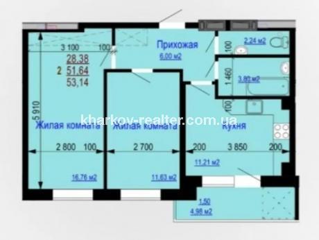 2-комнатная квартира, Одесская - Image2