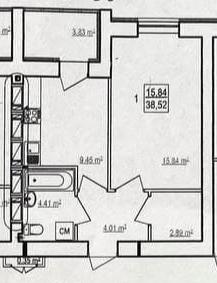 1-комнатная квартира, Журавлевка - Image12